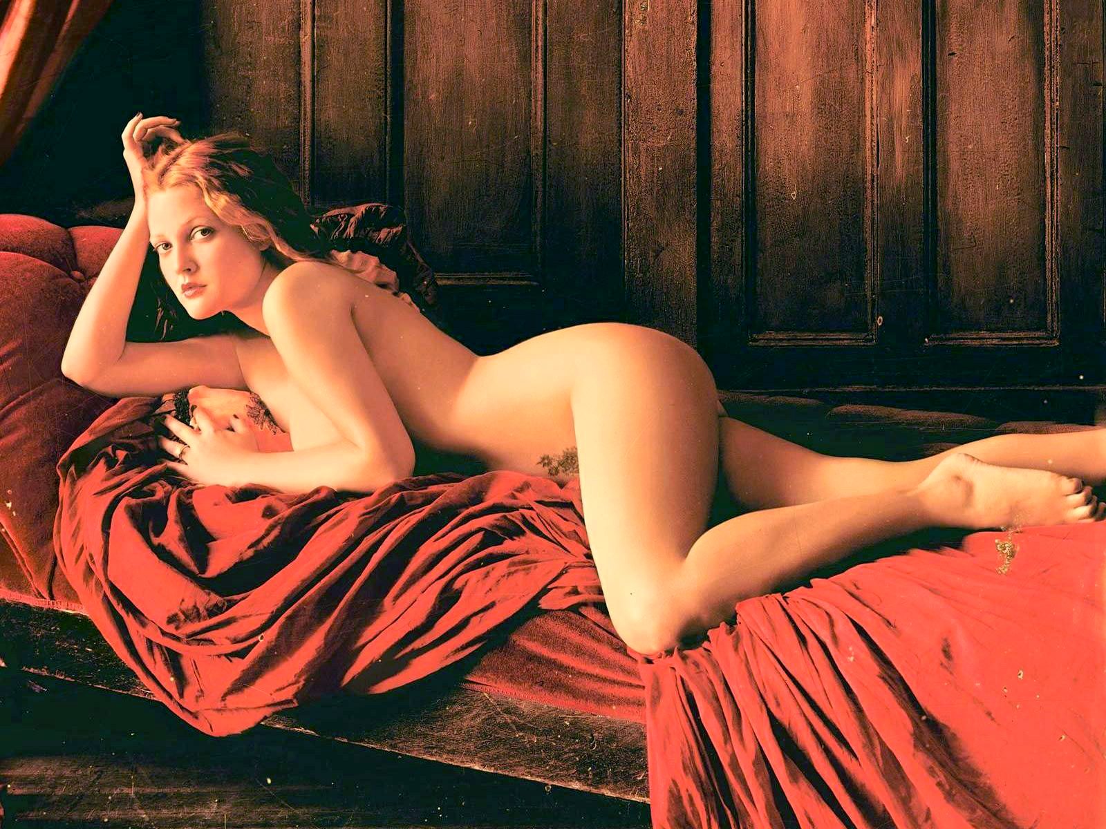 Drew barrymore nude naked ass